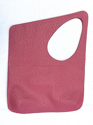 Try-Angle (POP) Pop Of Pink Ostrich Embossed Cowhide