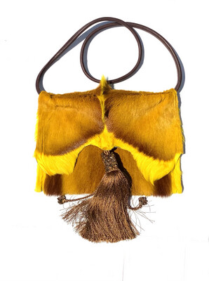 Springbok Tassel Crossbody Yellow  Handbag