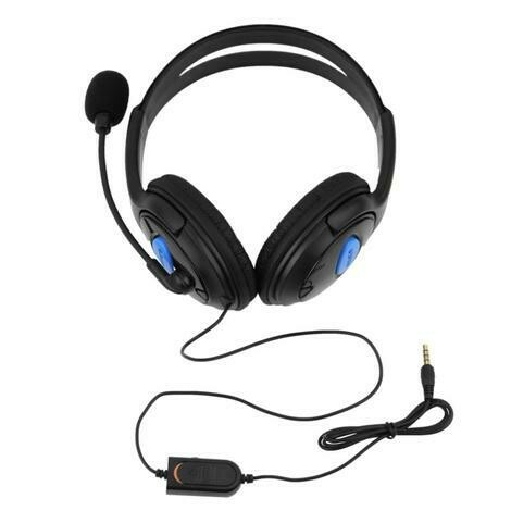 Sony ps4, computer stereo wired gaming headset with mic