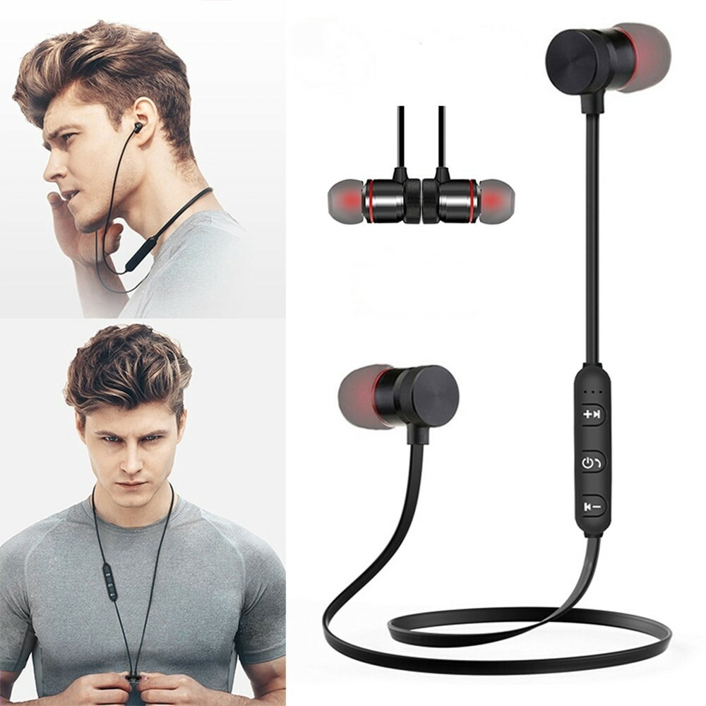 Cell World M5 Bluetooth  Sweatproof Magnetic super bass sports earphone