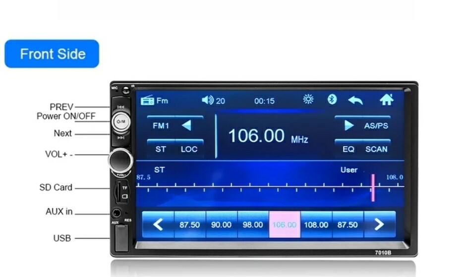 Cell World 2 din Car mp5 bluetooth Radio