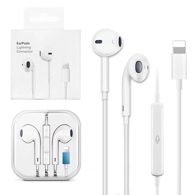 Lighting Earphone with microphone Wired Stereo Earphones for Apple iPhone 8 7 Plus X XS MAX XR iPod