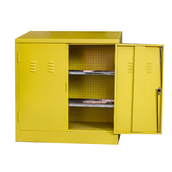 HARZARDOUS CABINET 900H X 900W X 450D WITH 2 SHELVES