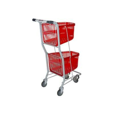 2 TIER PLASTIC SHOPPER