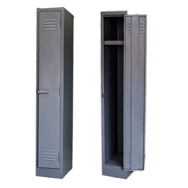 SOLID STAFF FACTORY LOCKER 1800X300X450 MM 1 TIER GREY