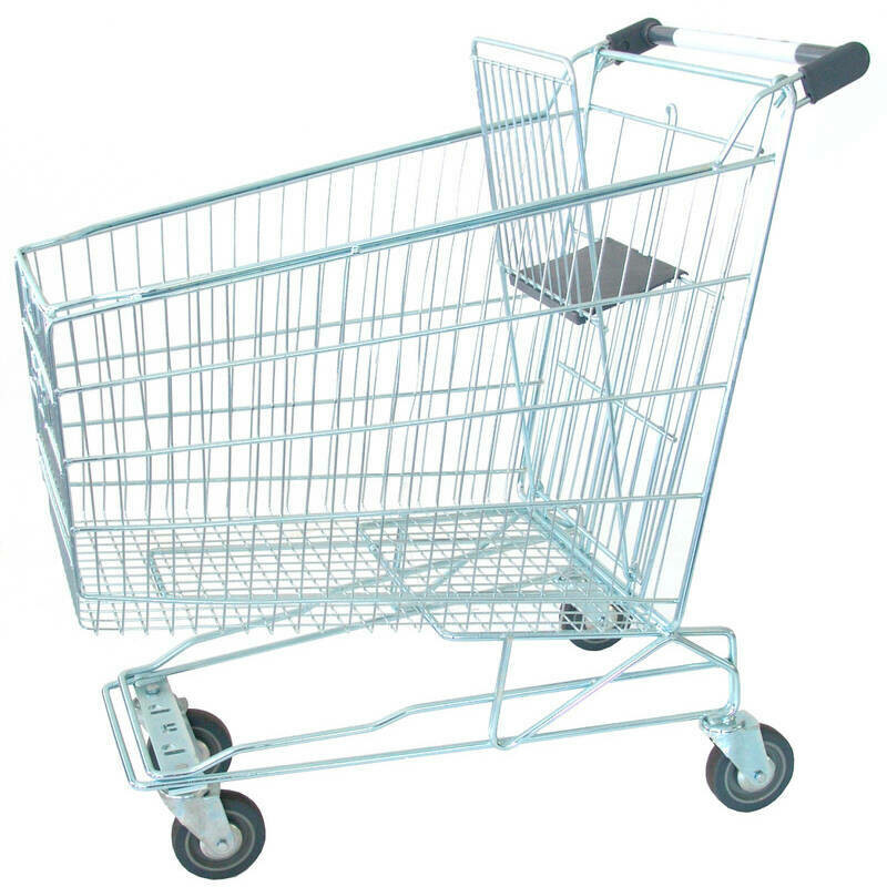 SHOPPING TROLLEY GREEN 210 LT