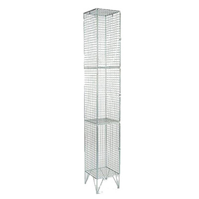 WIRE MESH STAFF LOCKER 1750 X 300 X 450 3 COMP