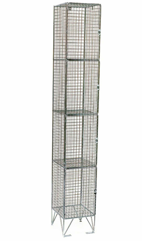 WIRE MESH STAFF LOCKER 1750 X 450 X 300 4 COMP