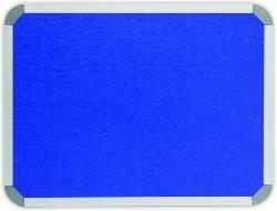INFO BOARD - ALU FRAME, FELT 2400 X 1200MM ROYAL BLUE