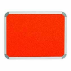 INFO BOARD - ALU FRAME, FELT 900 X 600MM ORANGE
