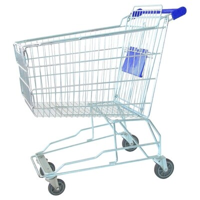 SHOPPING TROLLEY BLUE 140 LT