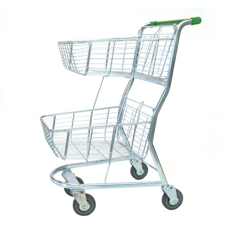 SHOPPING TROLLEY S/SHOPPER - 2 T MINI GREEN