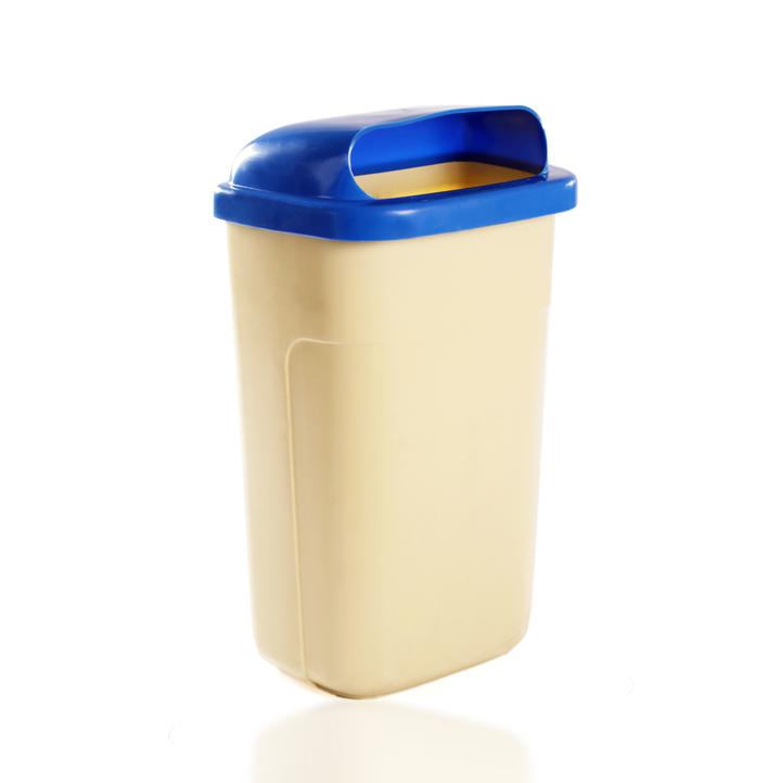 REFUSE BIN GREEN 50L POLE