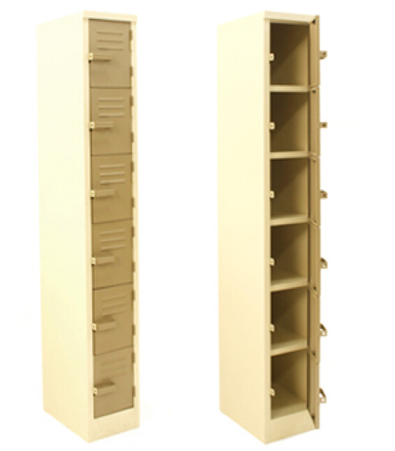 SOLID STAFF FACTORY LOCKER 1800X300X450 MM 6 TIER  IVORY