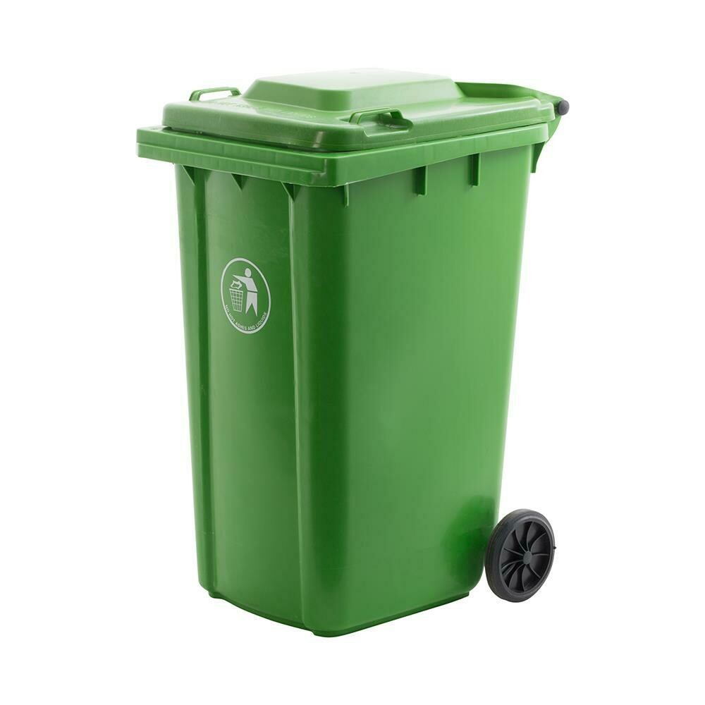 WHEELIE BIN LIME GREEN 240L