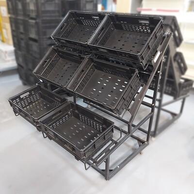 FRUIT & VEG STAND MOBILE - INCL. PLASTIC BINS