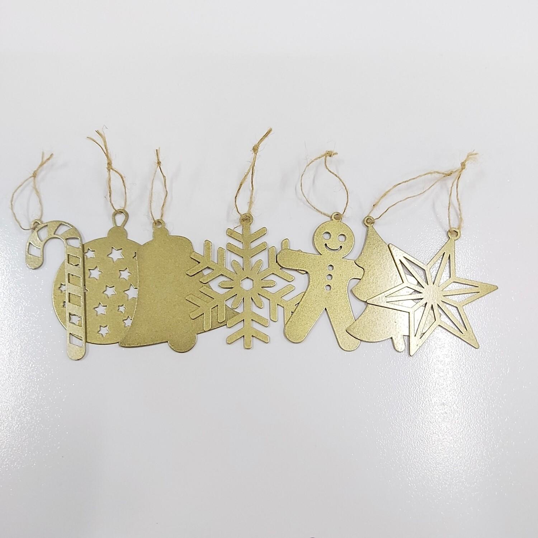 CHRISTMAS DECORATIONS - 7 PIECE