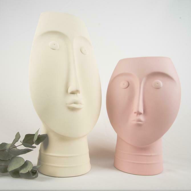 Set Face Vase Cream & Pink