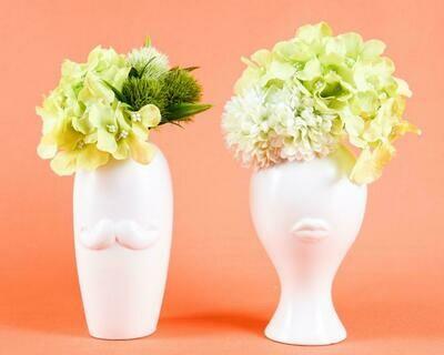 Set Floreros Kiss & Moustache