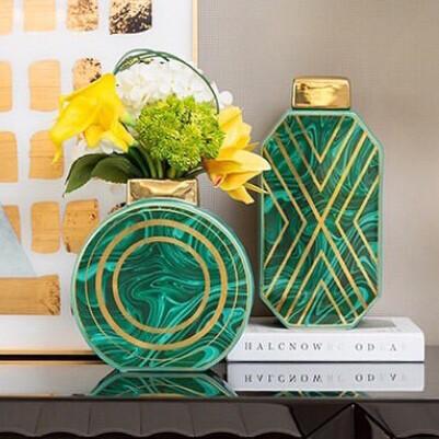 Set Floreros Verde