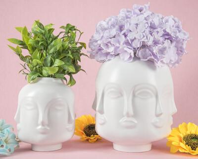 Face Flower Vase - 2 Tamaños