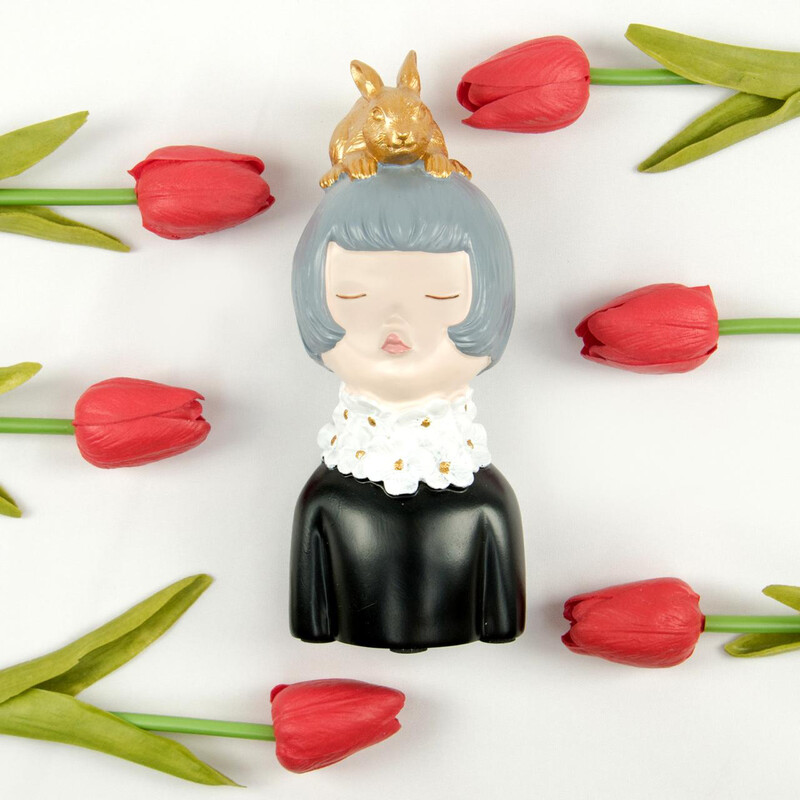 Girl With Golden Rabbit - Cool Ornaments