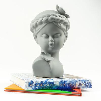 Cute Gray Girl - Cool Ornaments