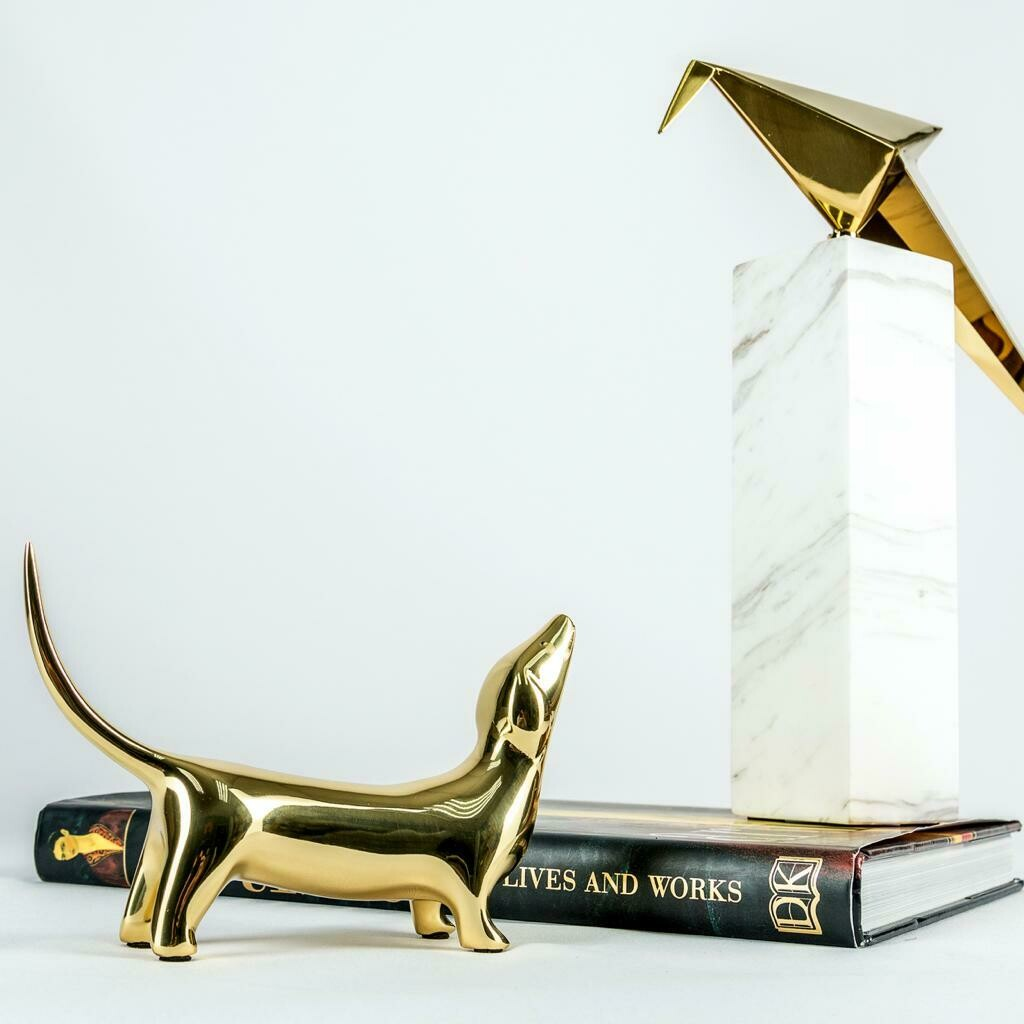 Gold Dog Sculpture - Cool Deluxe