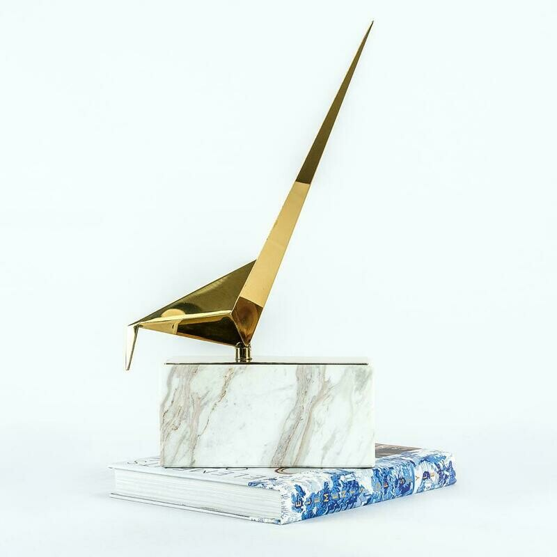 Gold Bird 2 Sculpture - Cool Deluxe