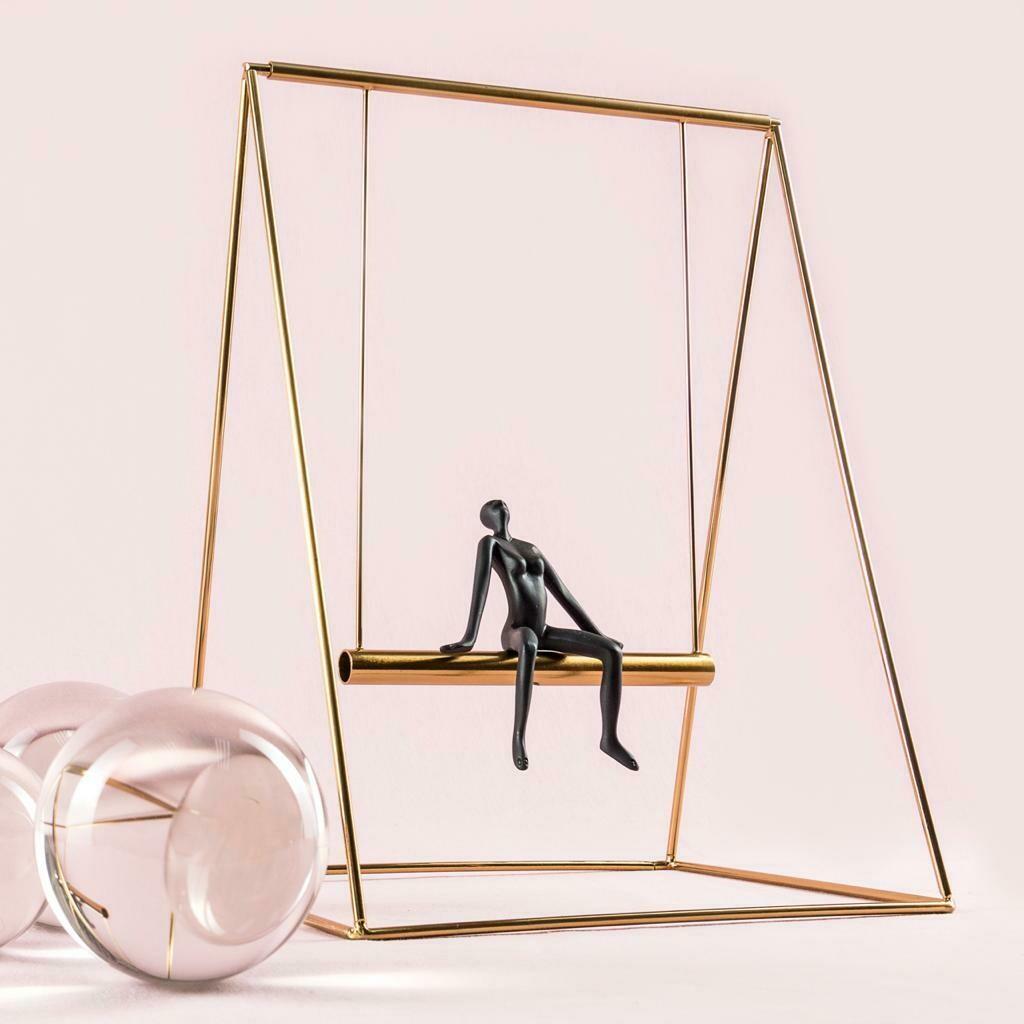 Swing Boy Sculpture - Cool Deluxe