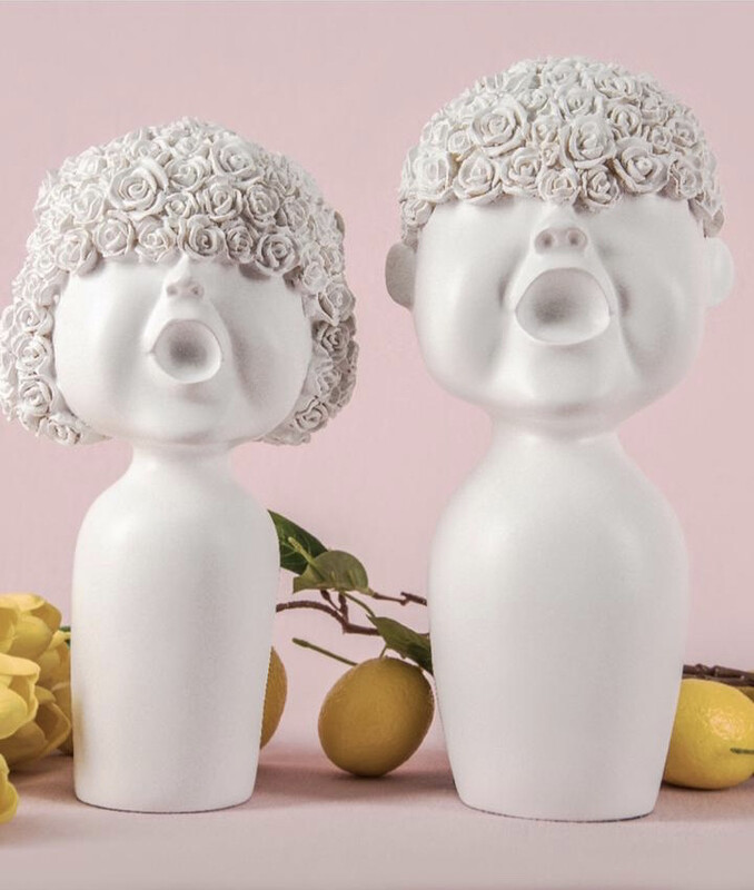 Set Cute Couple Sculptures - Cool Ornaments