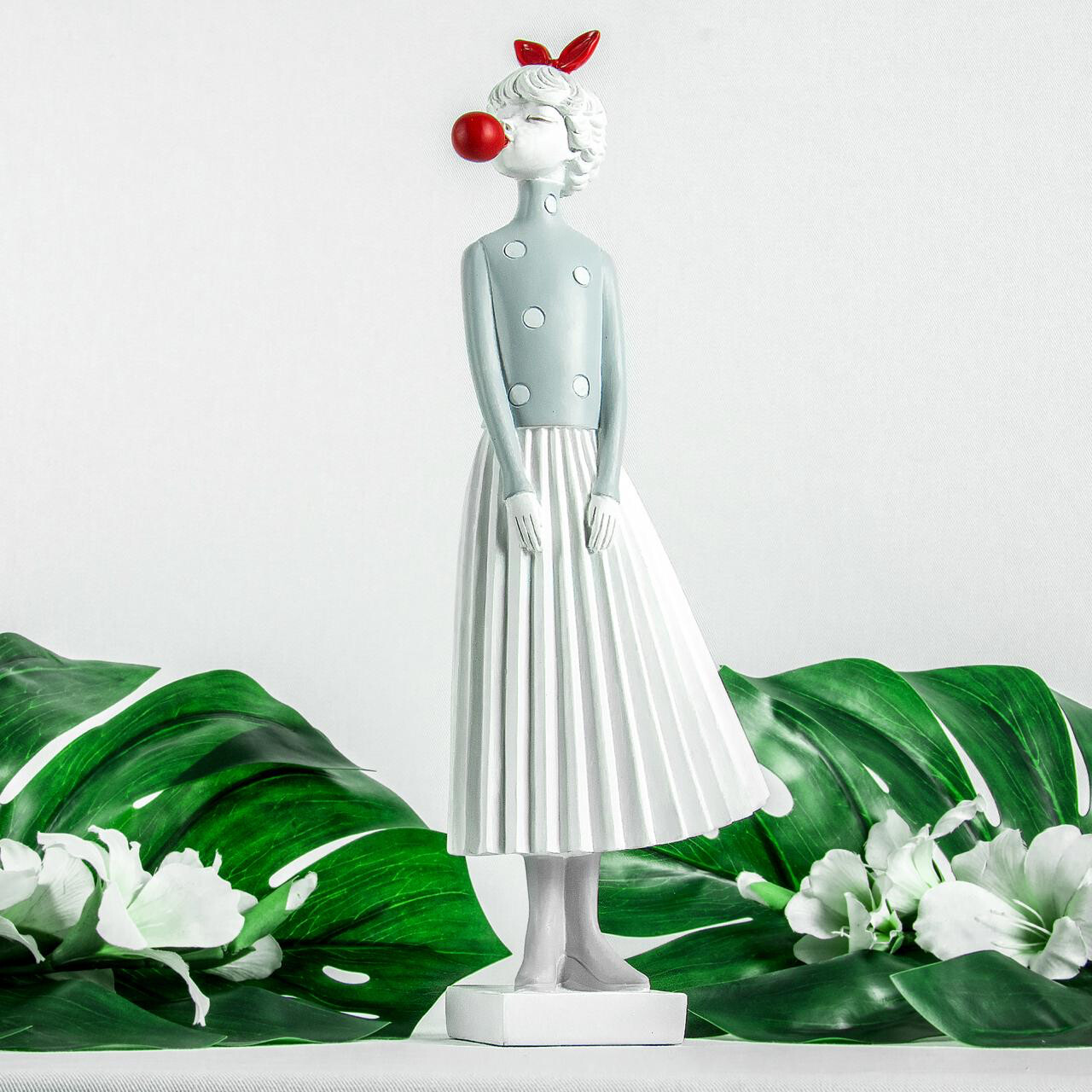 White Skirt Lady Sculpture - Cool Ornaments