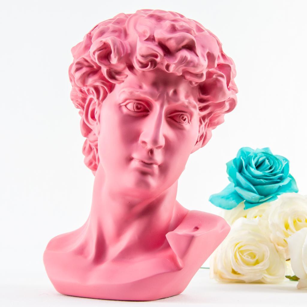 Cabeza David Sculpture (Pink) - Cool Ornaments