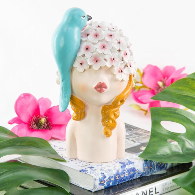 Blue Bird Cute Girl - Cool Ornaments