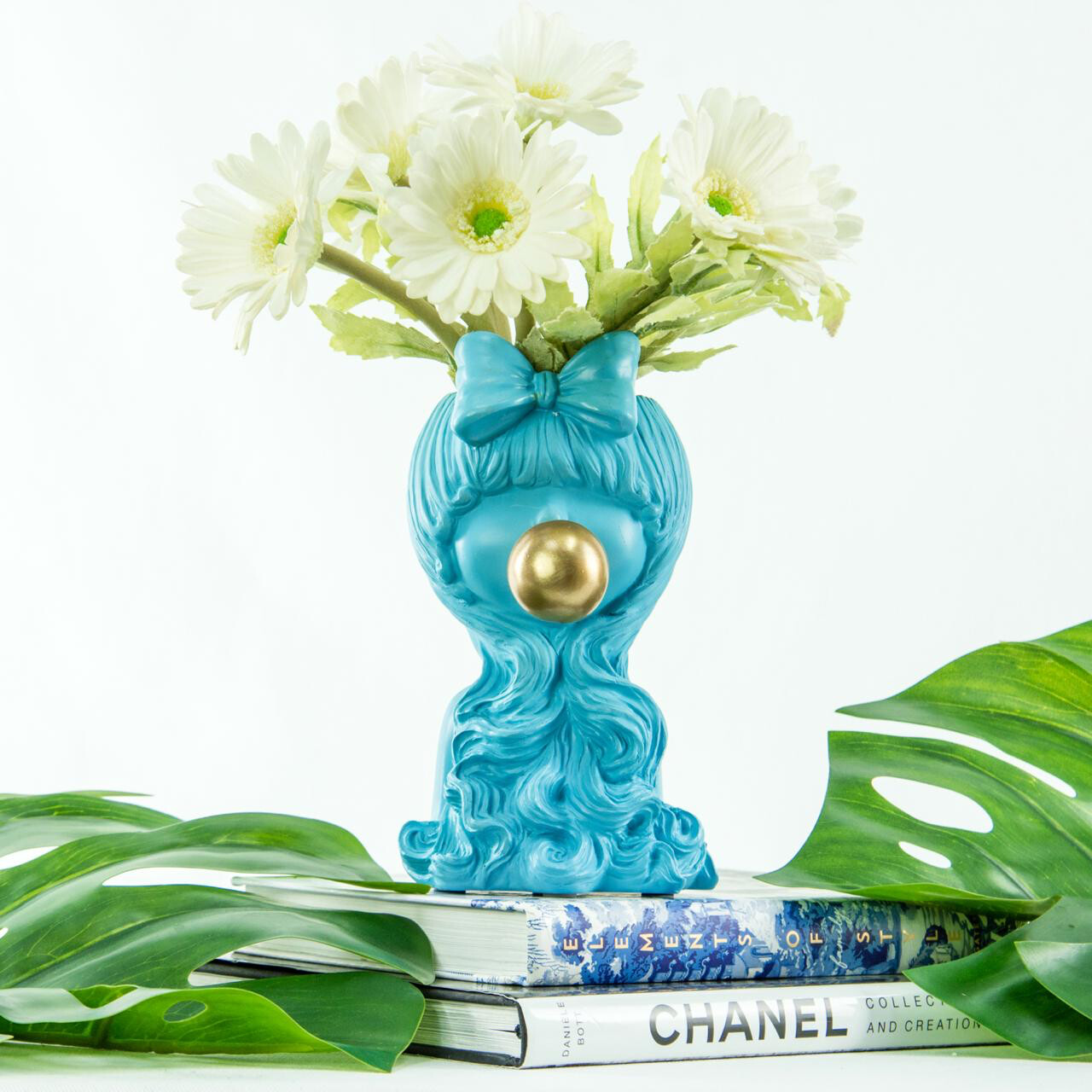 Florero Bubble Blue Girl - Flower Vase