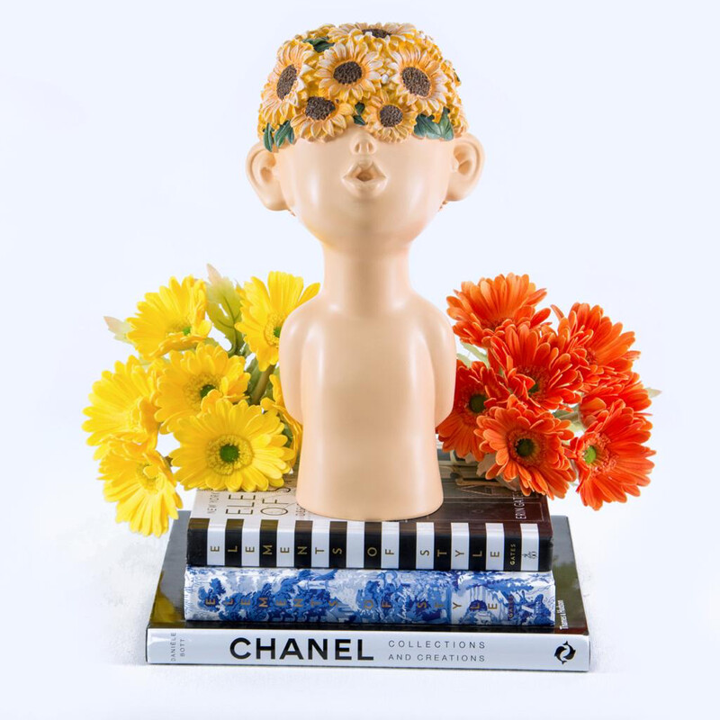 Sunflower Boy Sculpture - Cool Ornaments
