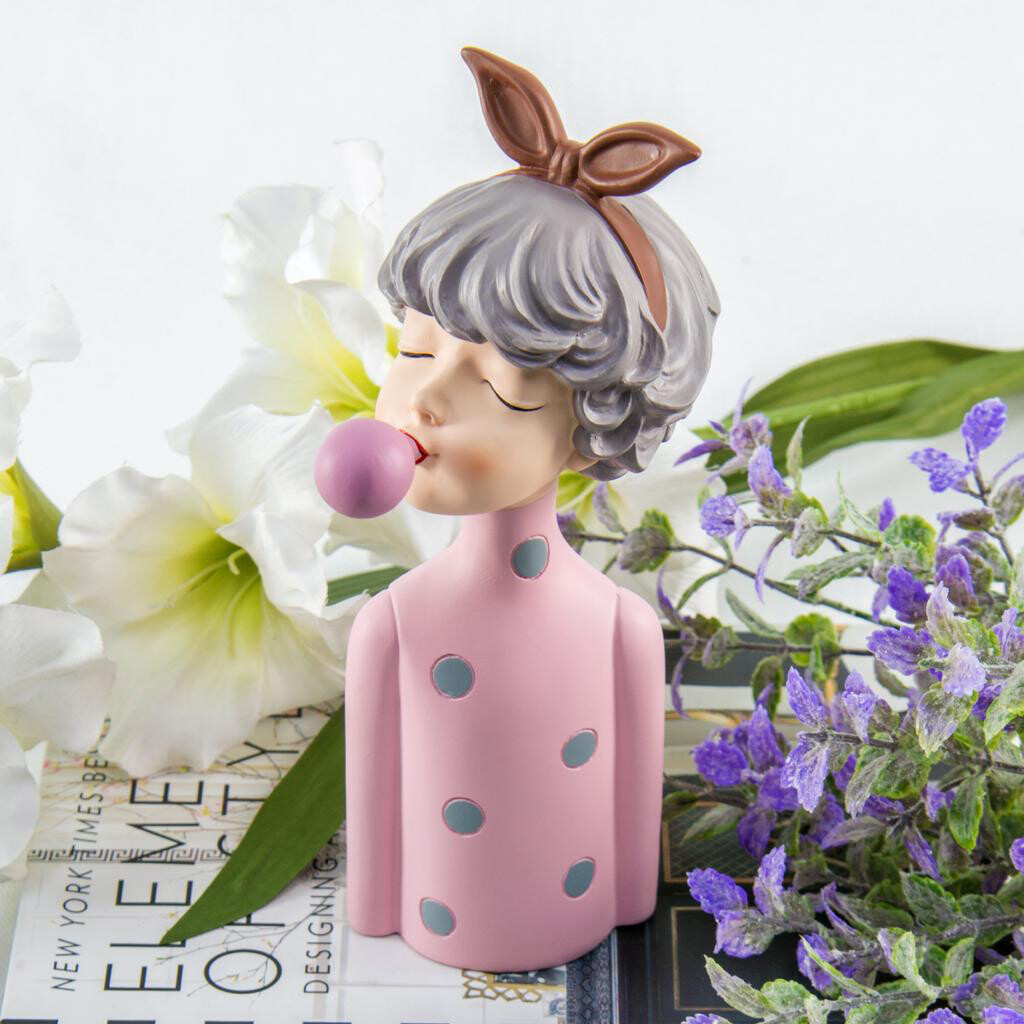 Pink Girl Sculpture - Cool Ornaments