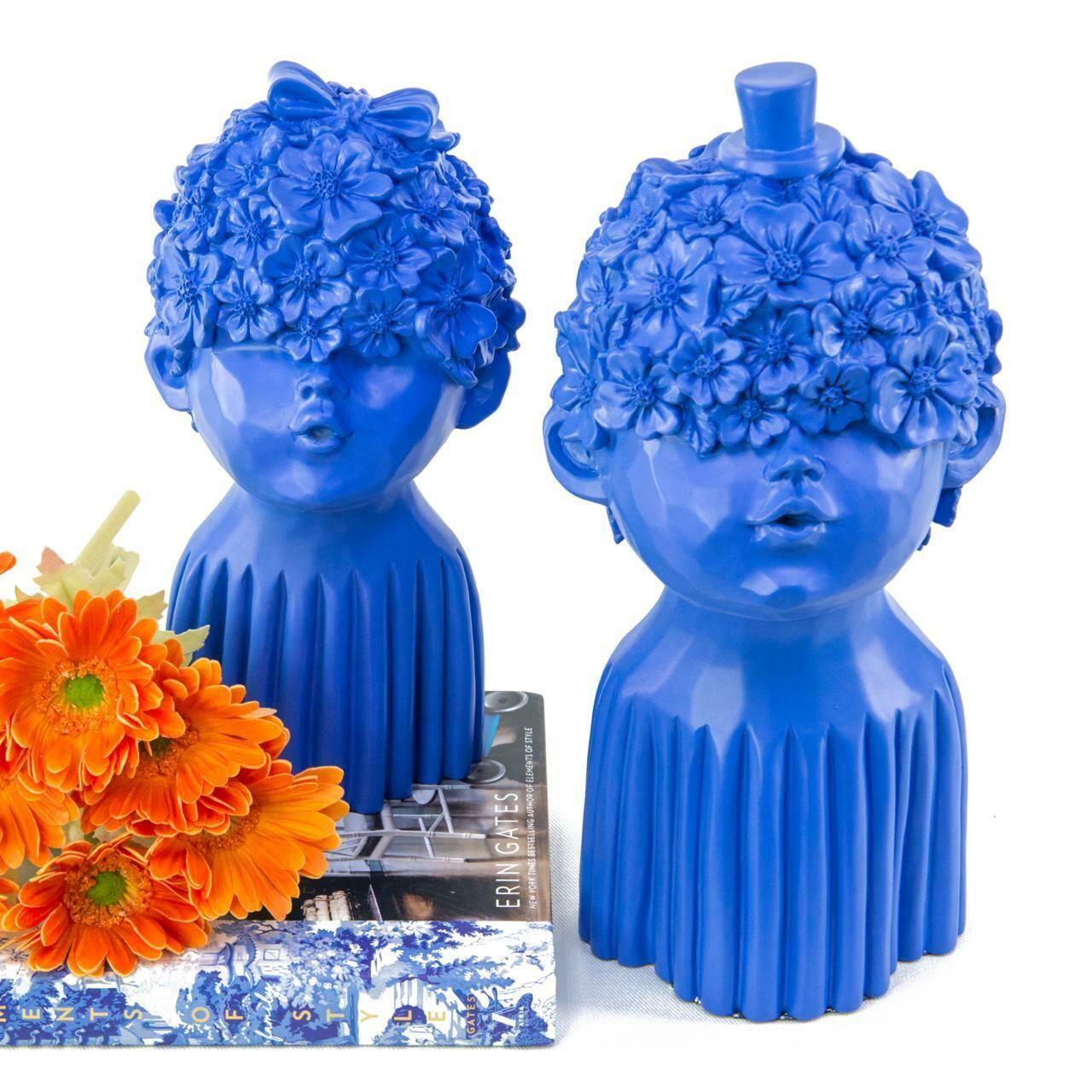 Blue Couple Sculpture - Cool Ornaments