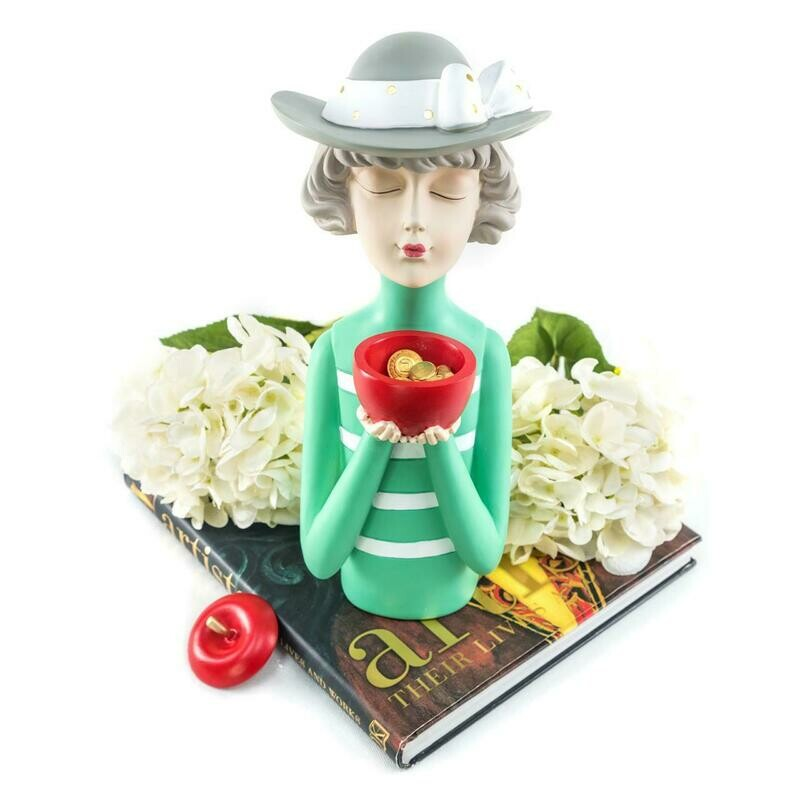 Apple Girl Sculpture - Cool Ornaments