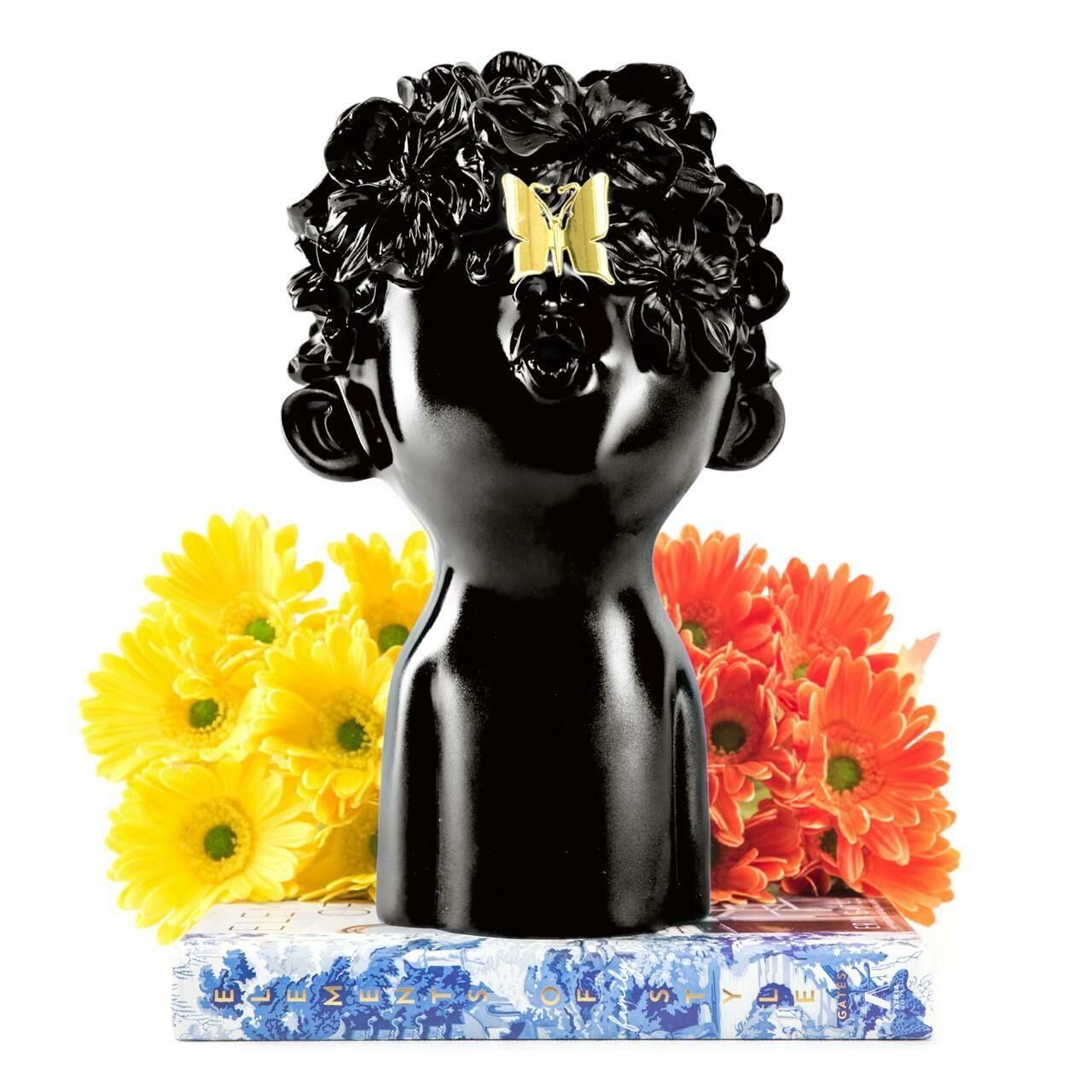 Black Boy With Butterfly - Cool Ornaments