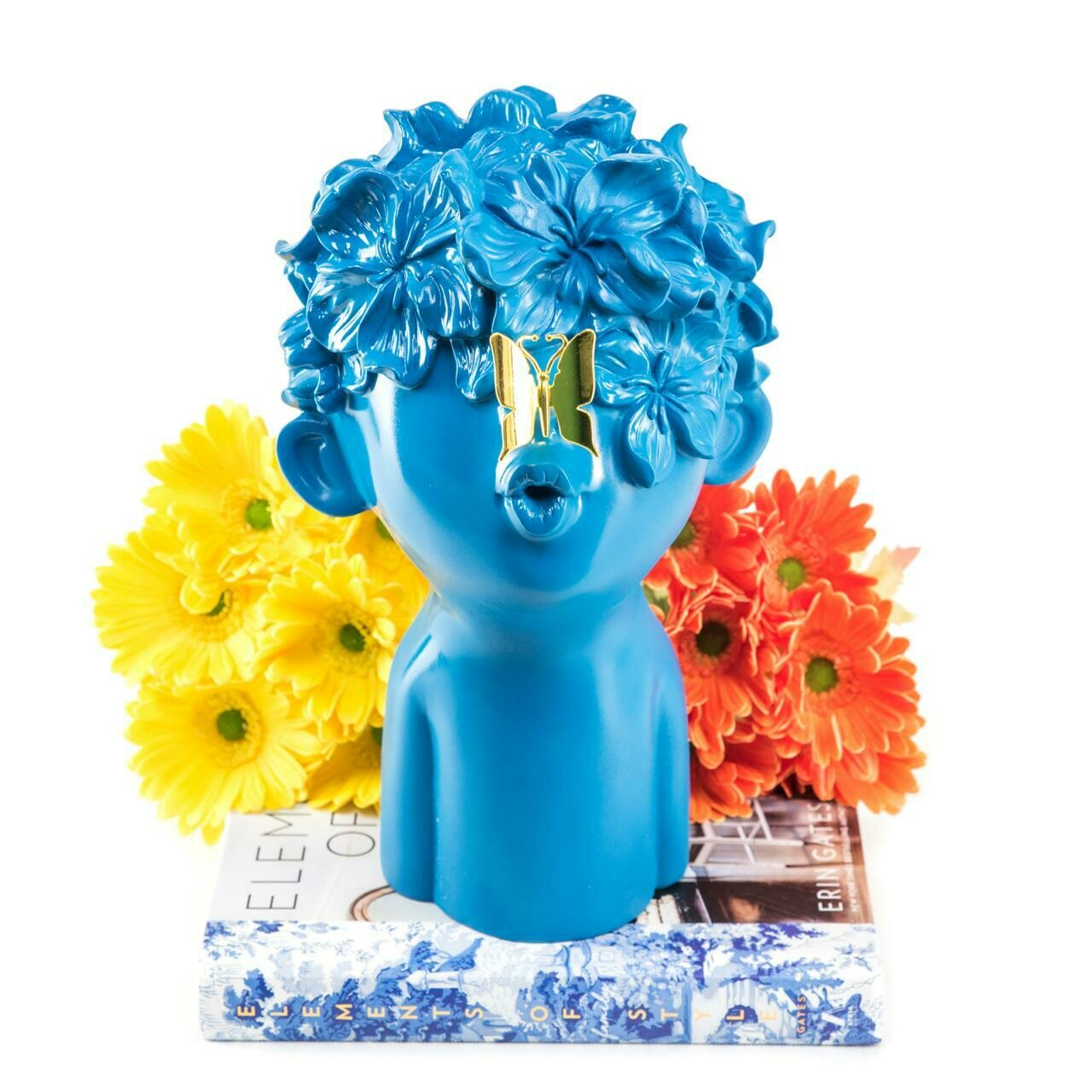 Blue Boy With Butterfly - Cool Ornaments