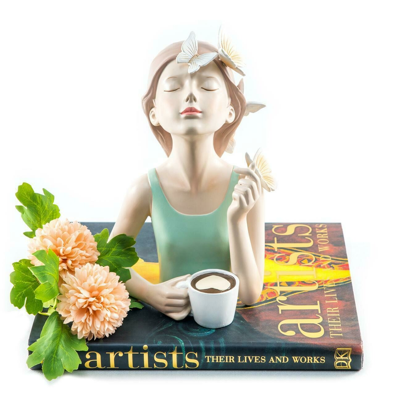 Coffee Girl Sculpture - Cool Ornaments