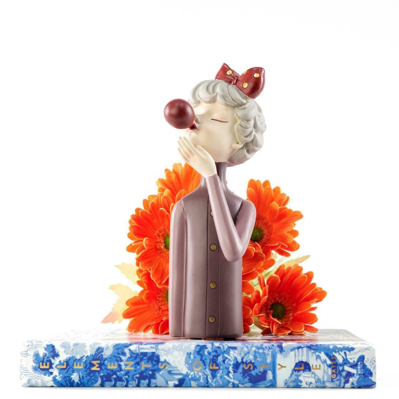 Purple Bubble Girl Sculpture - Cool Ornaments