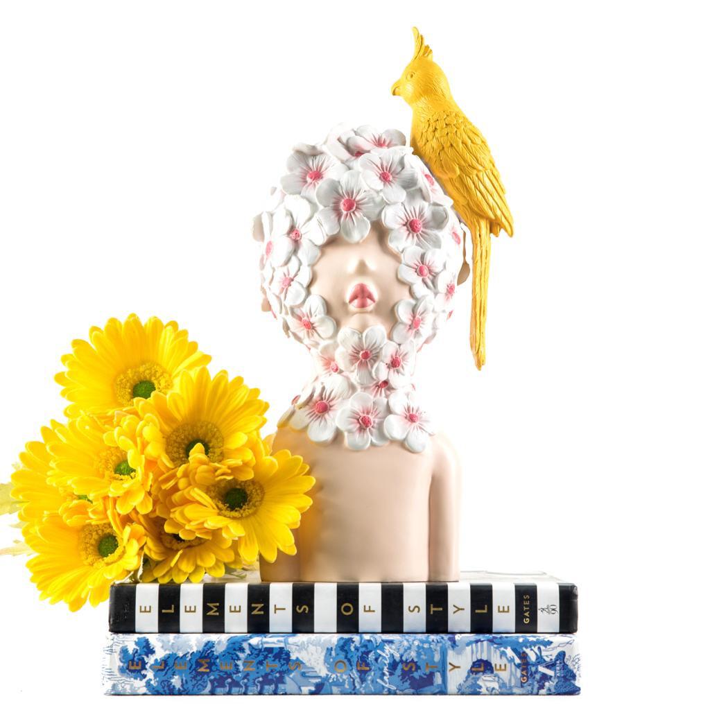 Yellow Bird Sculpture - Cool Ornaments