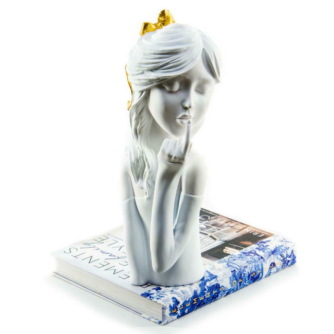 Gold Ribbon Girl Sculpture - Cool Ornaments