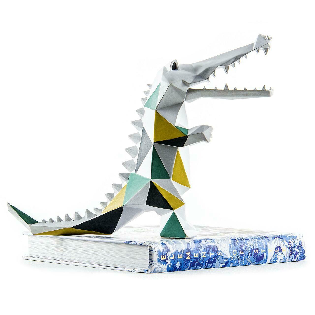 Silver Croc Sculpture - Cool Ornaments