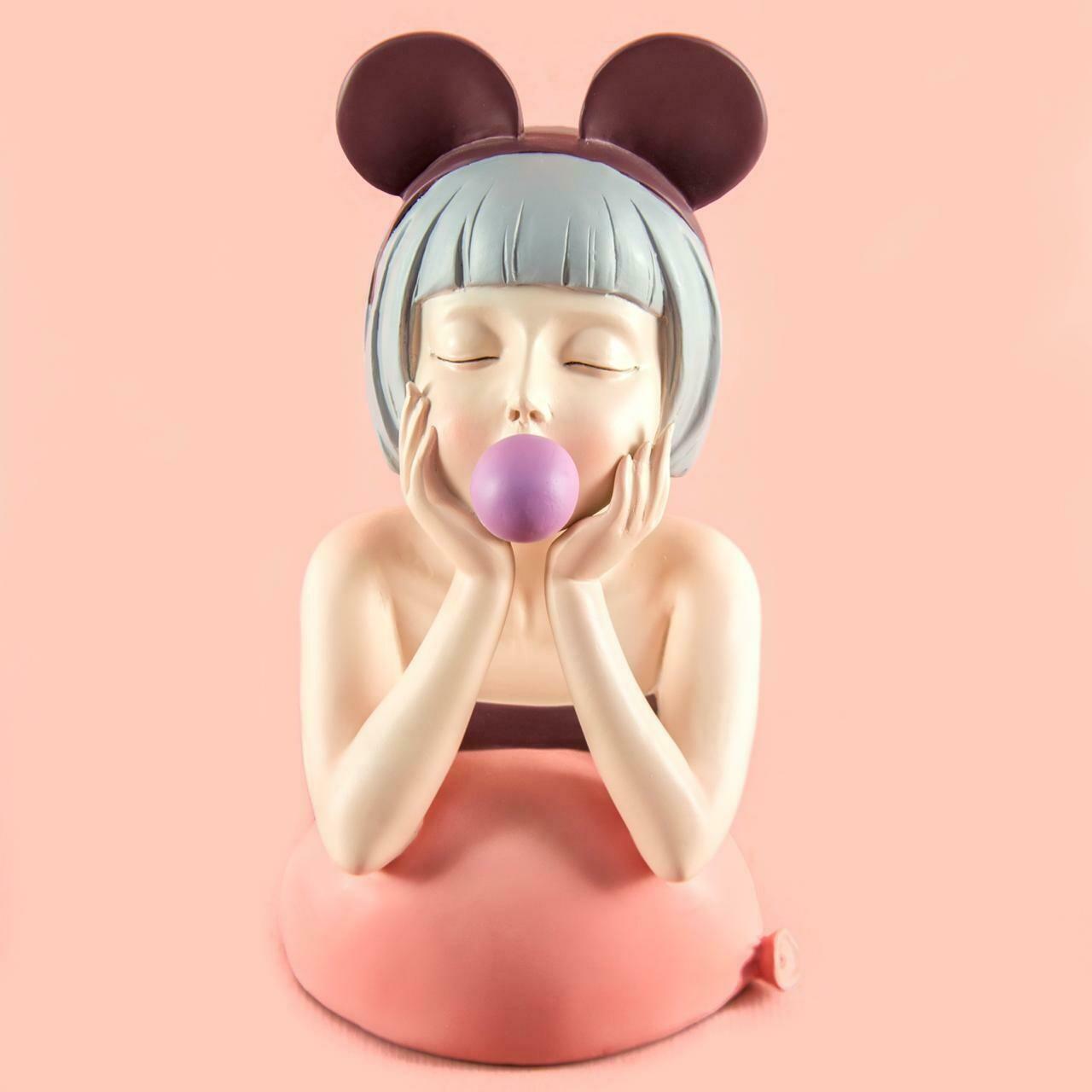 Cute Violet Bubble Girl - Cool Ornaments