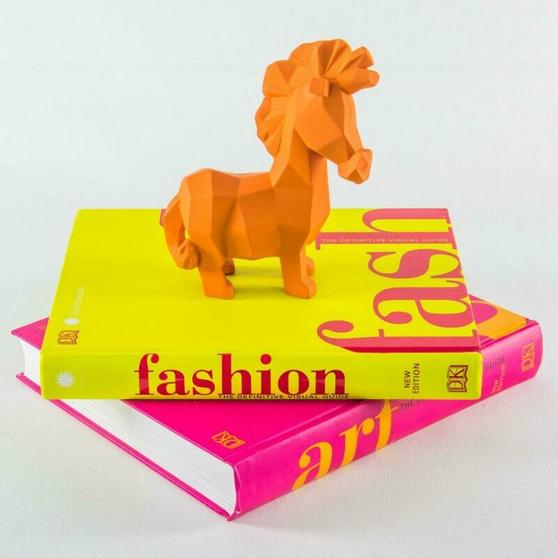 Orange Horse Sculpture - Cool Ornaments