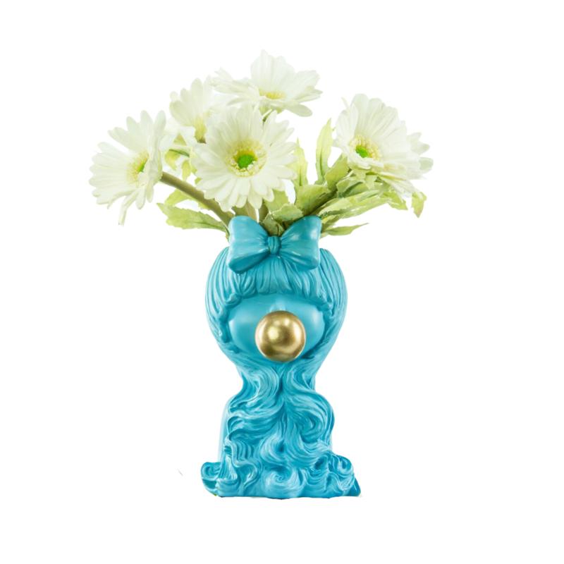 Florero Bubble Blue Girl - Flower Vase