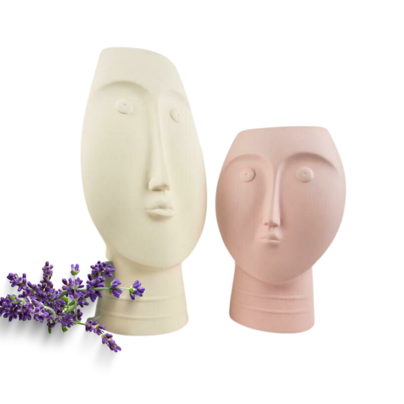 Set Face Vase Cream & Pink